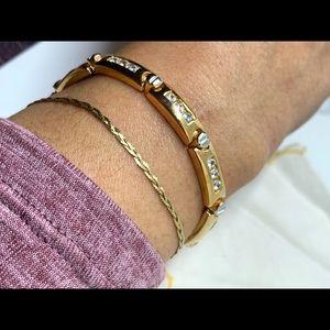 Delicate vintage braided 14KT gold bracelet